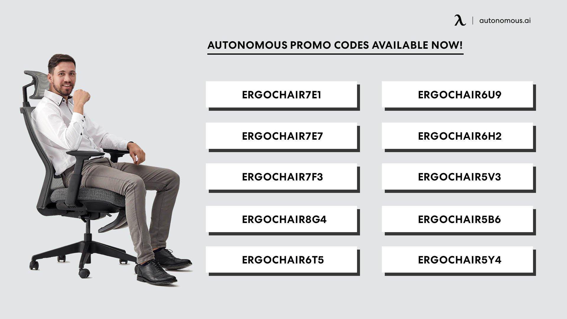 Autonomous promo codes available now!