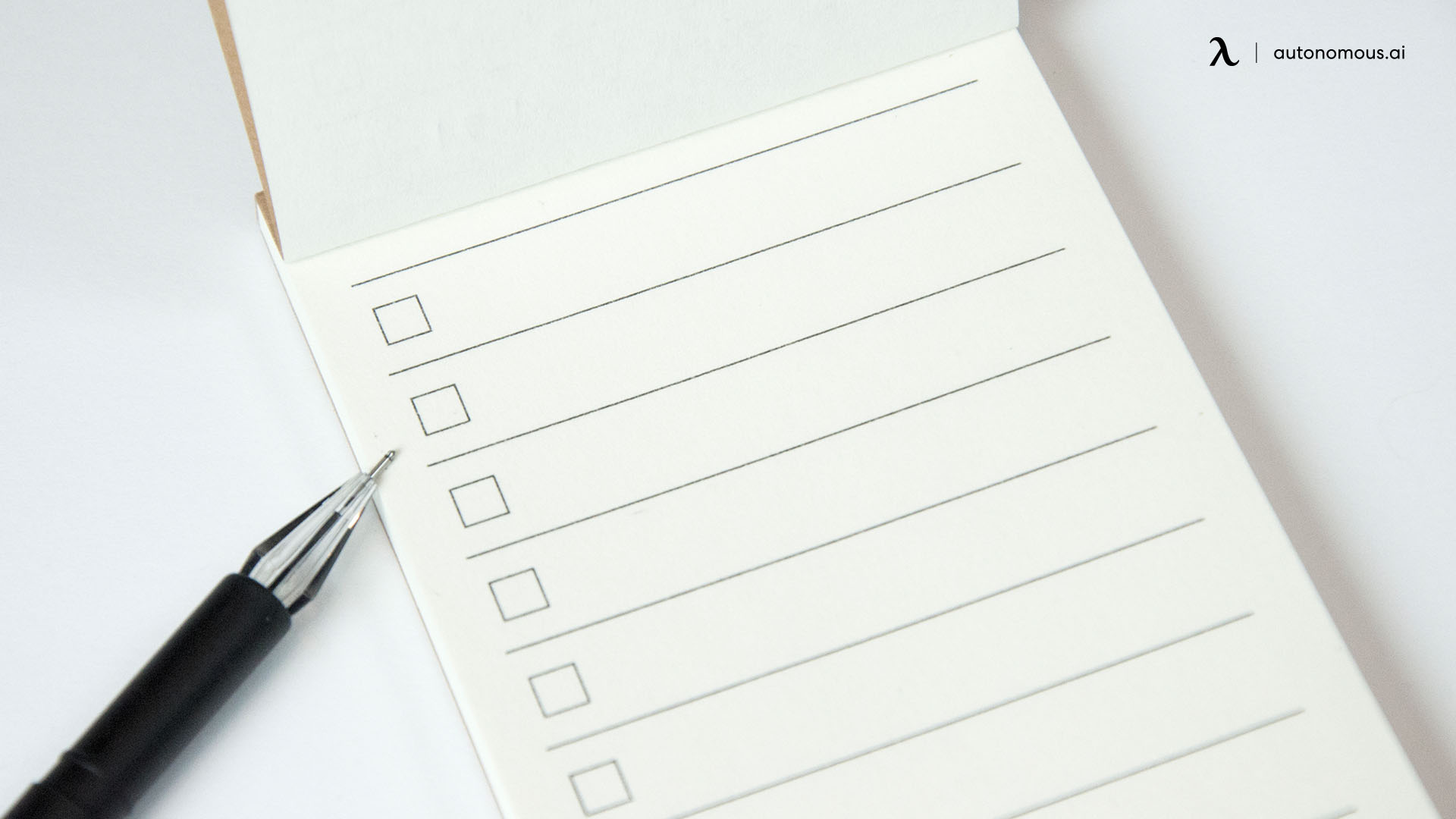 Things to consider when making a check list