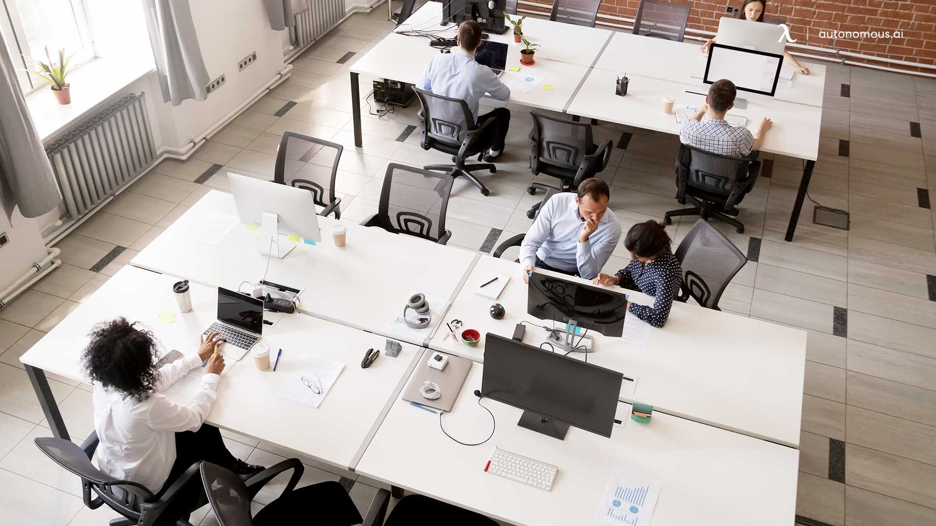 What is hot desking?