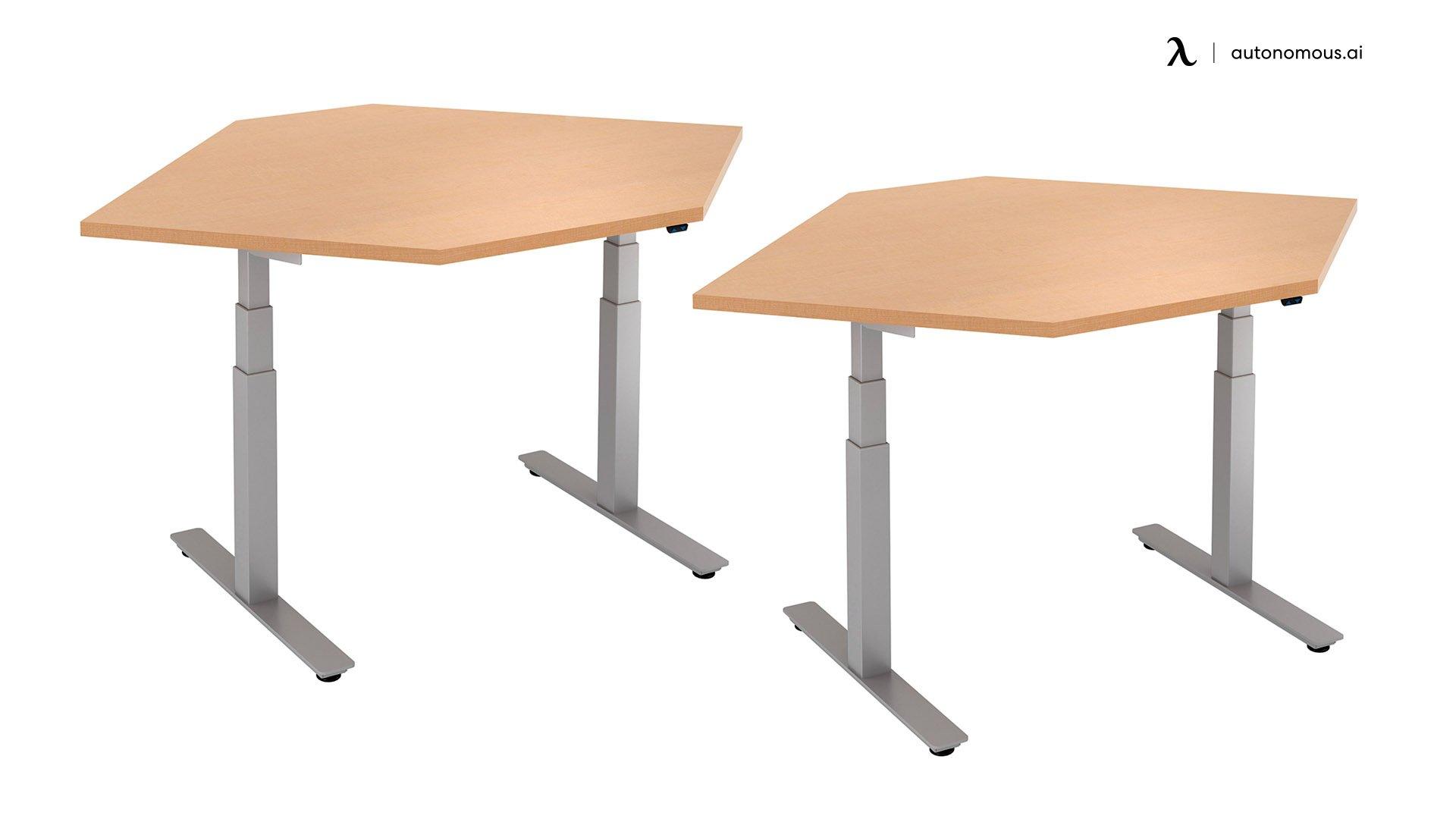 Trendway Straight Corner Adjustable Desk