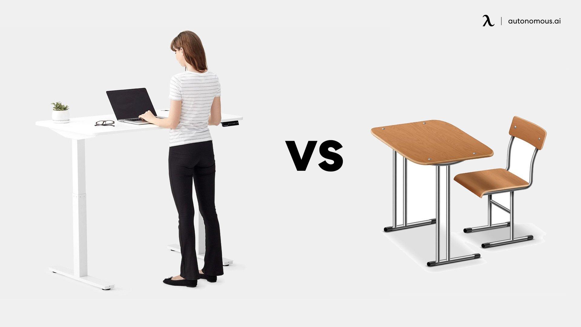 Standing desk vs normal office desk
