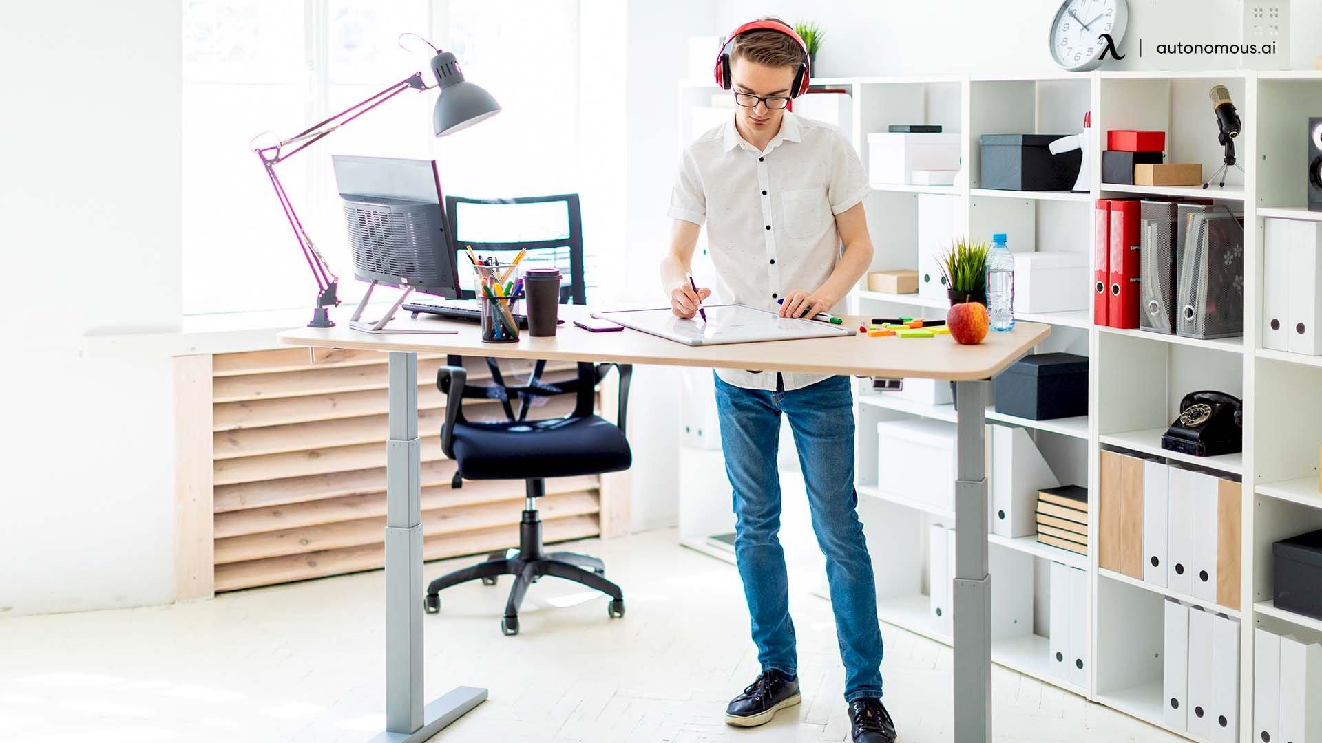 how to make desk less wobbly