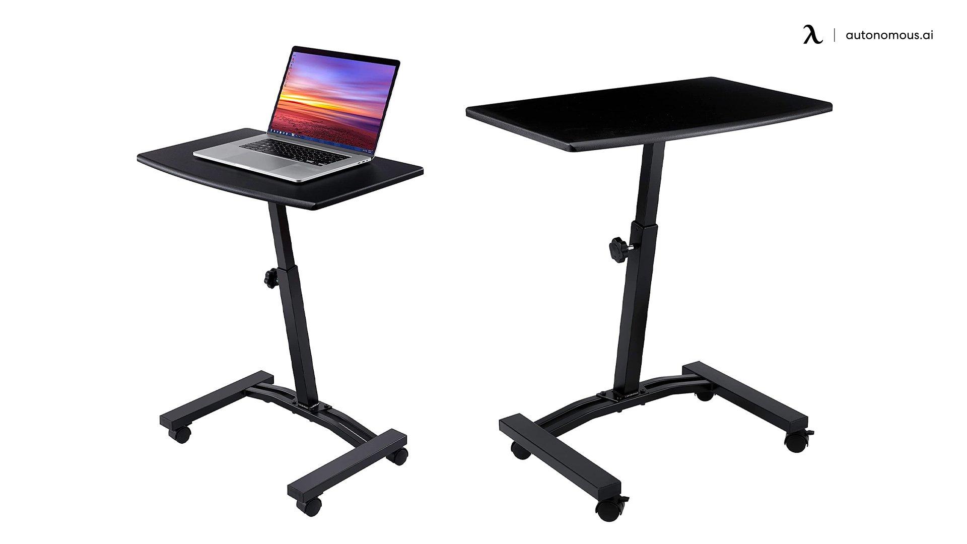 Seville Classics Height Adjustable Sitting Mobile Laptop Desk Cart