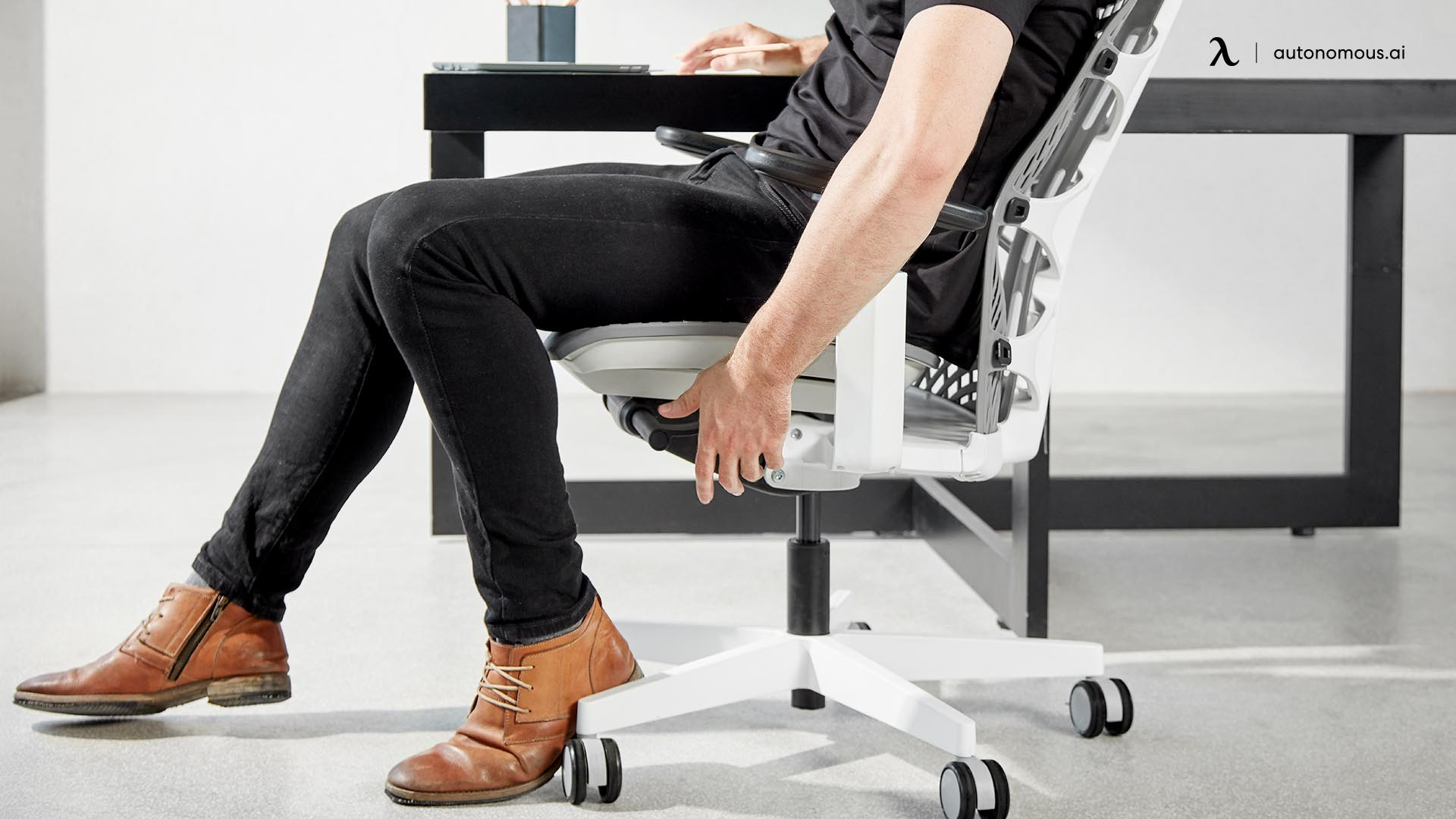 Adjustable Depth Feature on The Ergonomic Chair