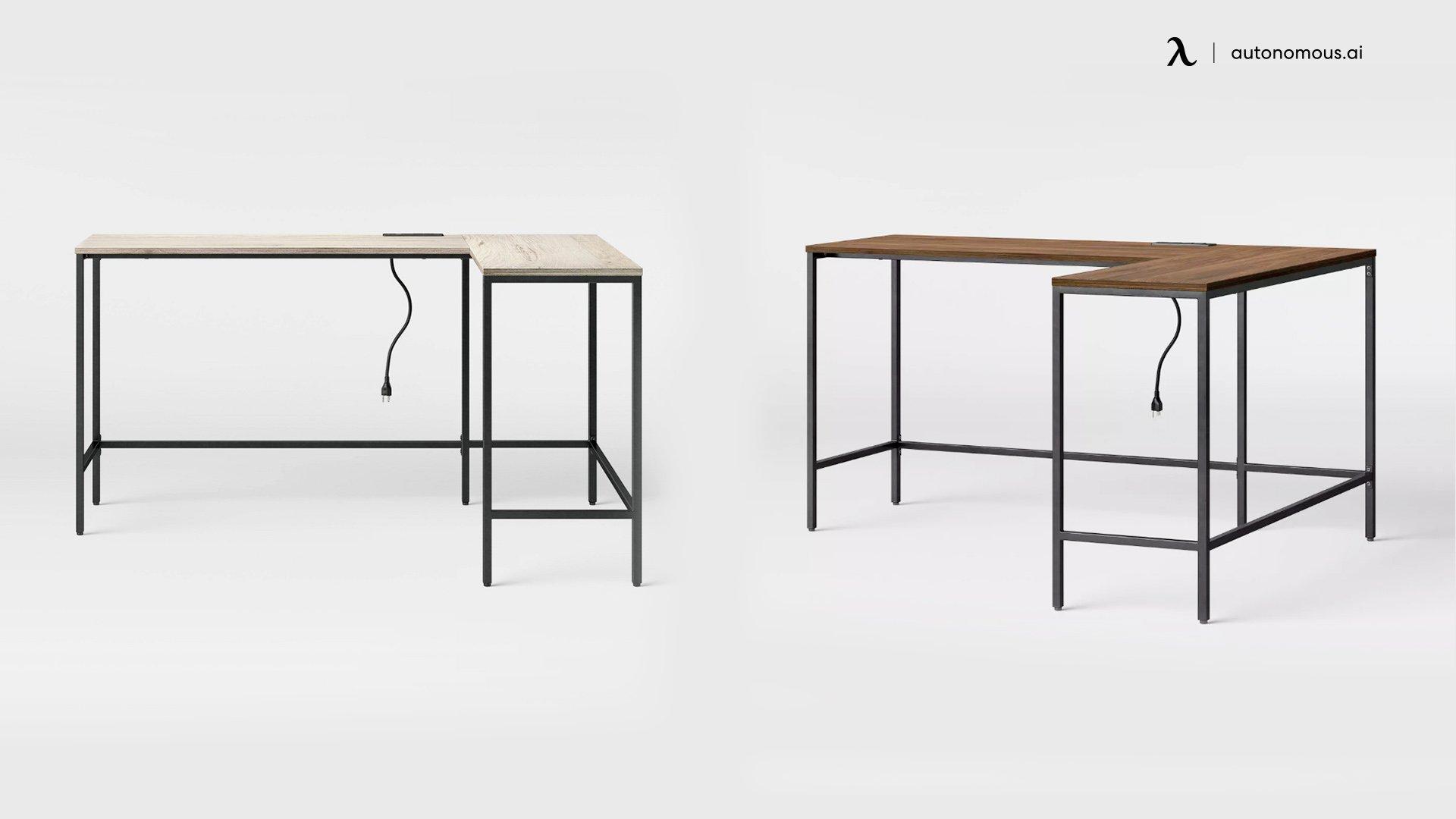 Loring Wood L-Shaped Writing Desk