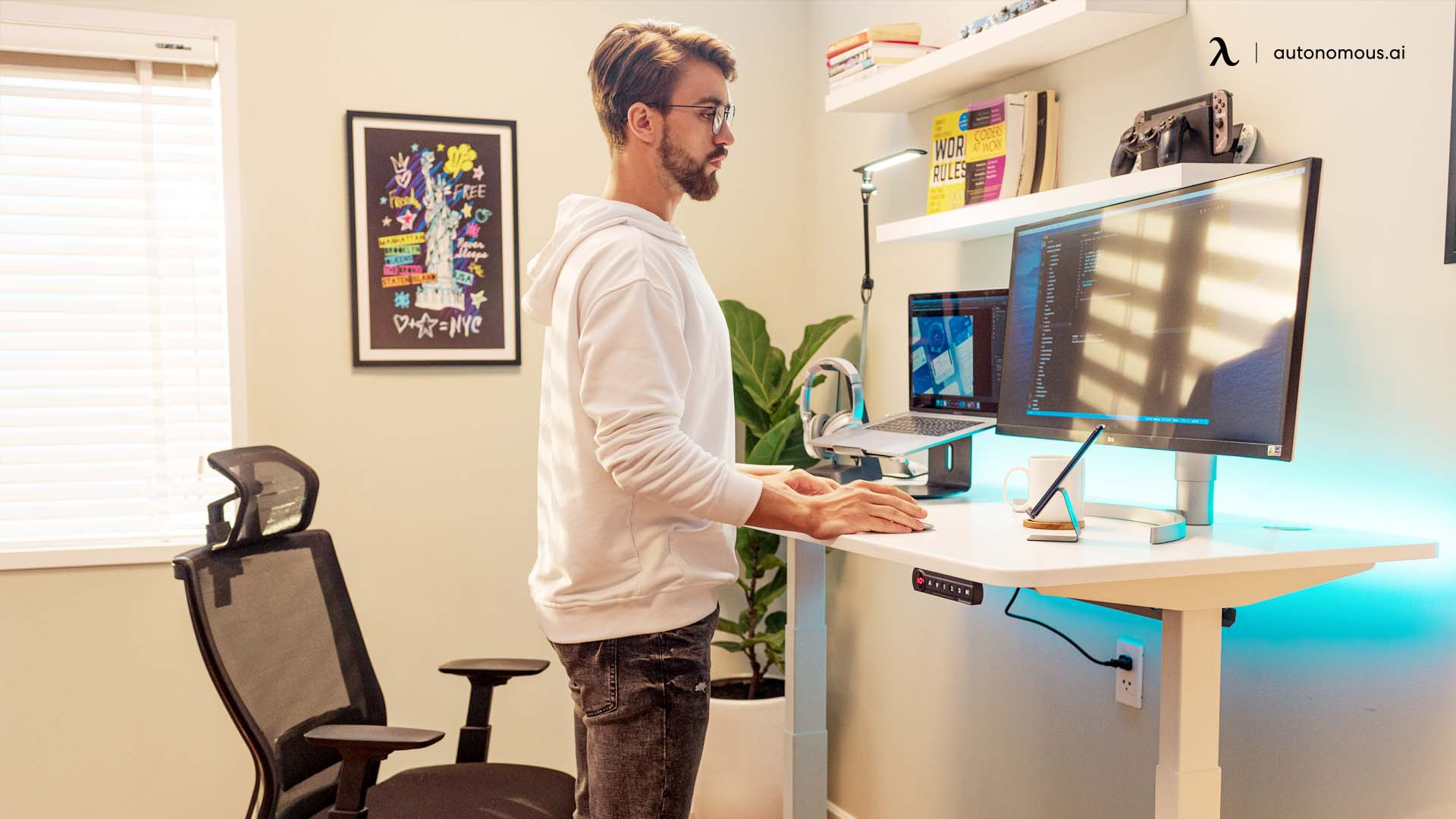 Consider a sit/stand desk
