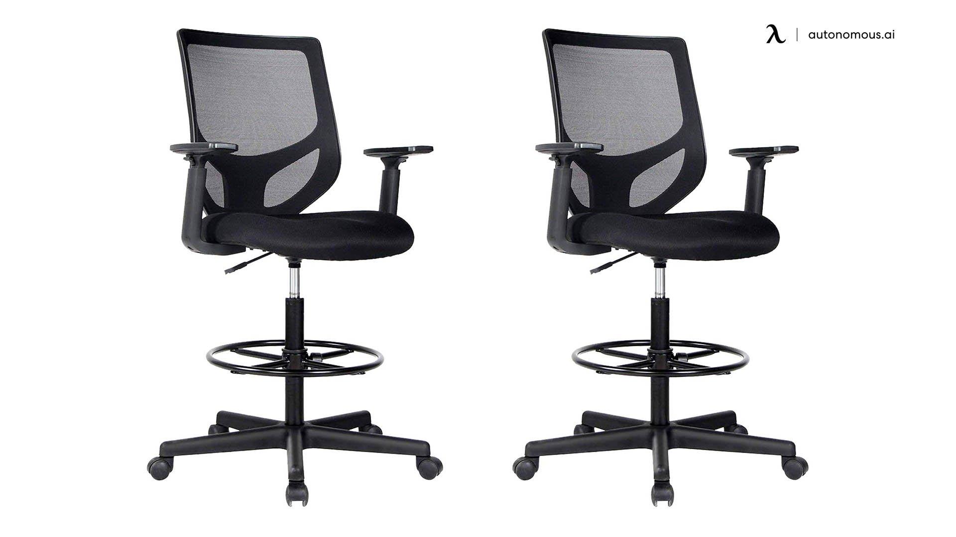 SmugDesk Mesh Drafting Tall Office Chair