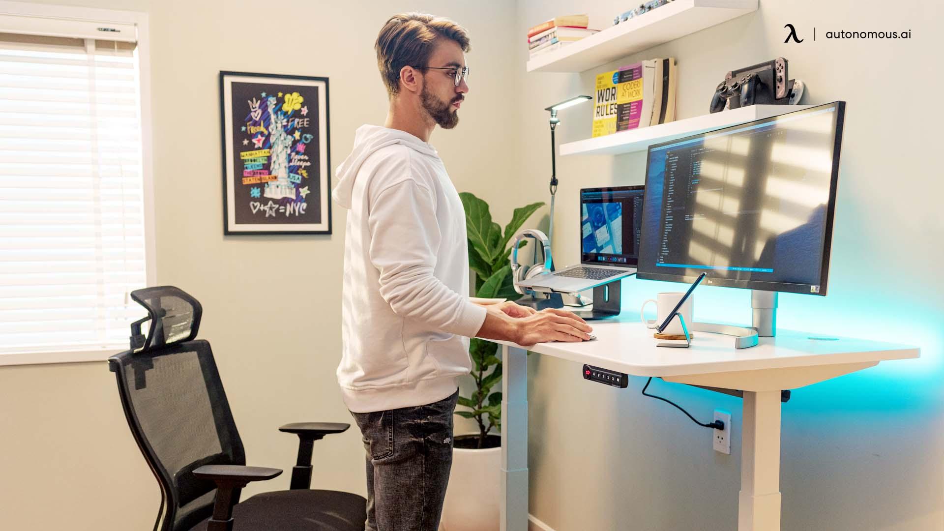 Standing Desks Boost Productivity.