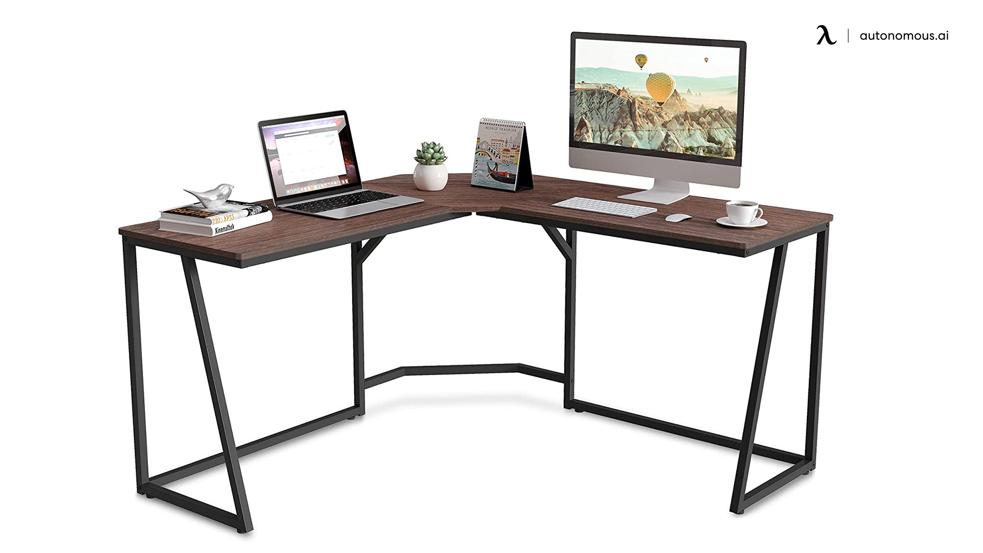 L-shaped computer desk from FituEye