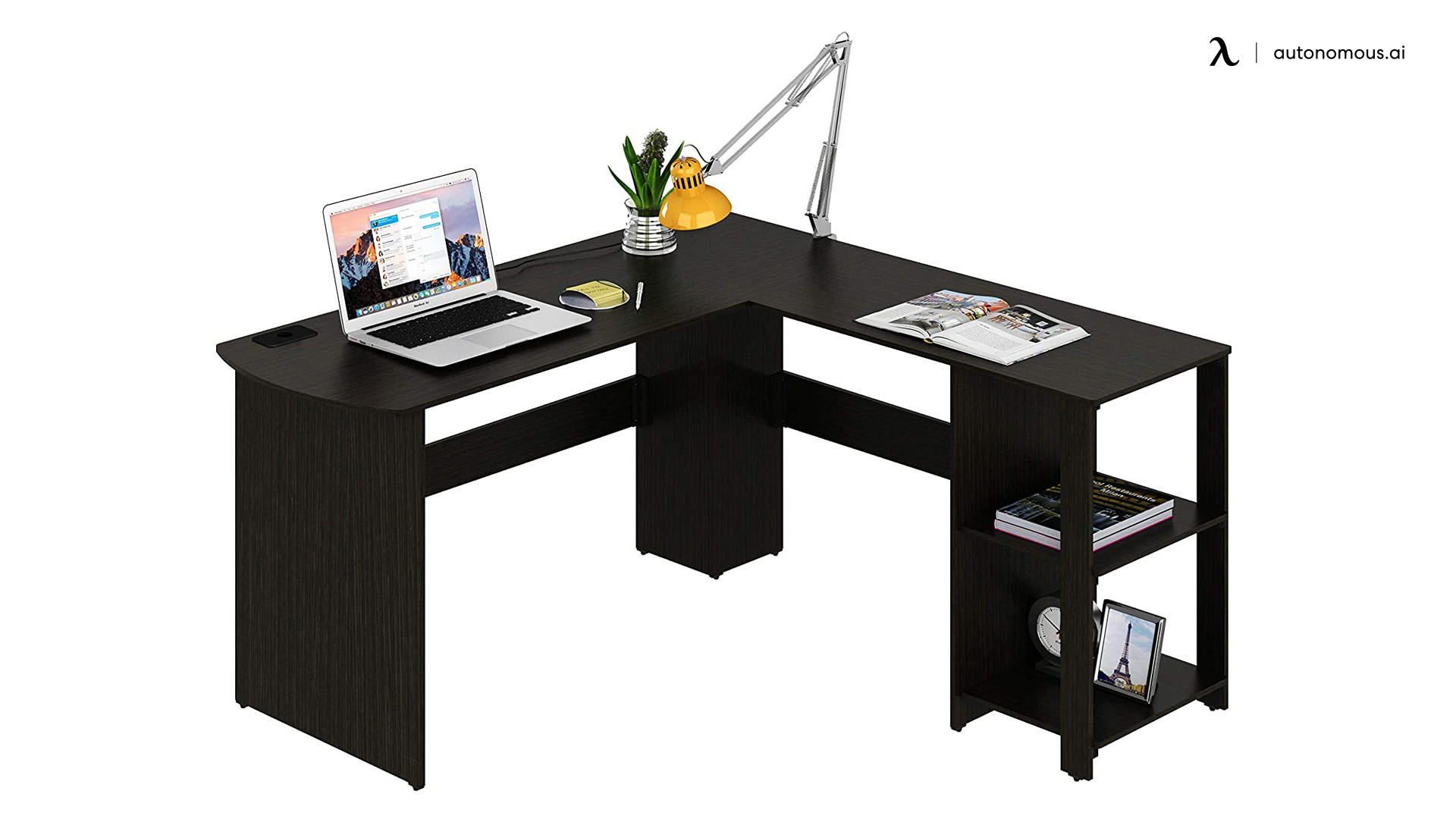 Engineered wood l-shaped desk from SHW