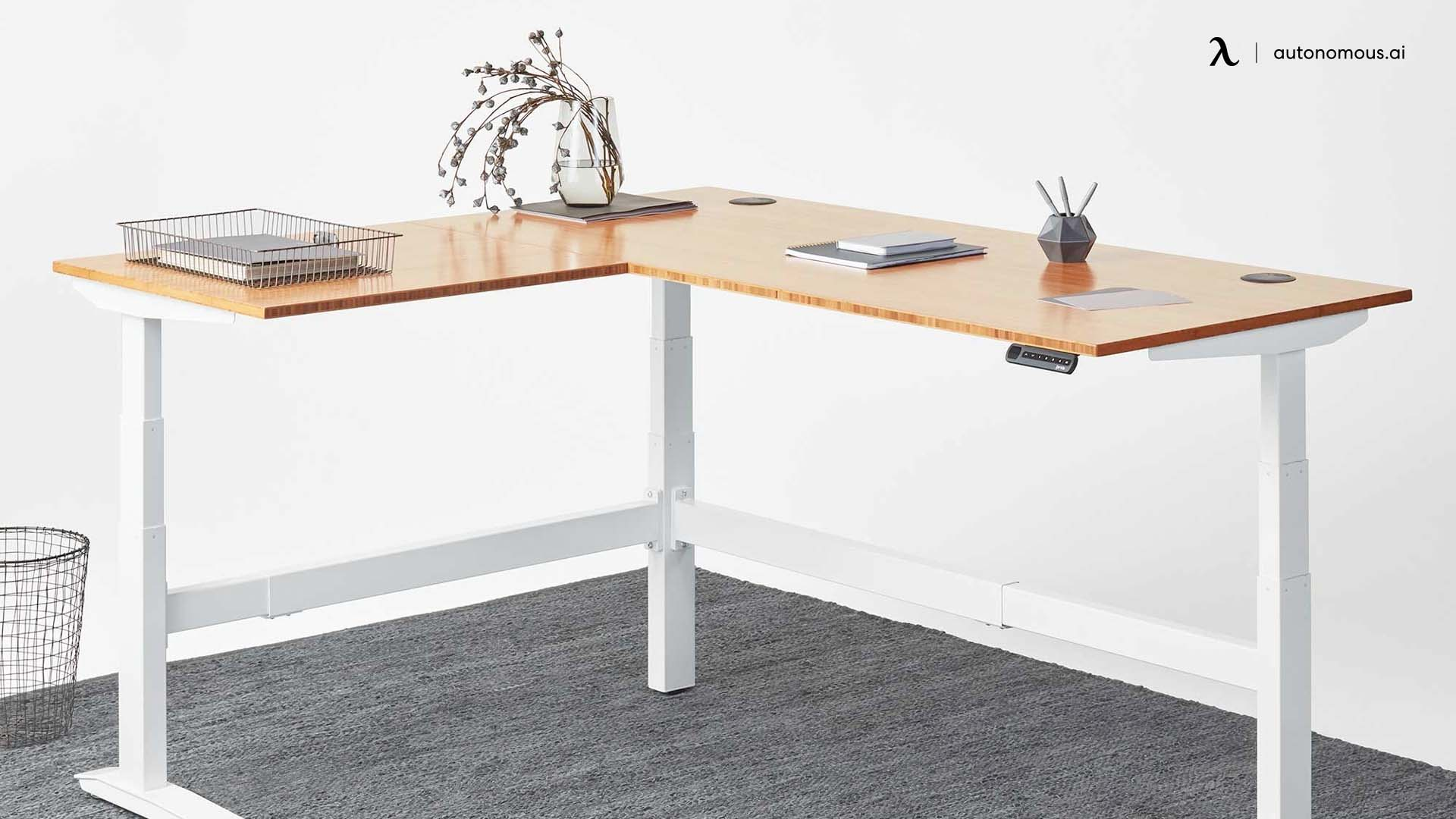 Fully Jarvis L-shaped Standing Computer Desk