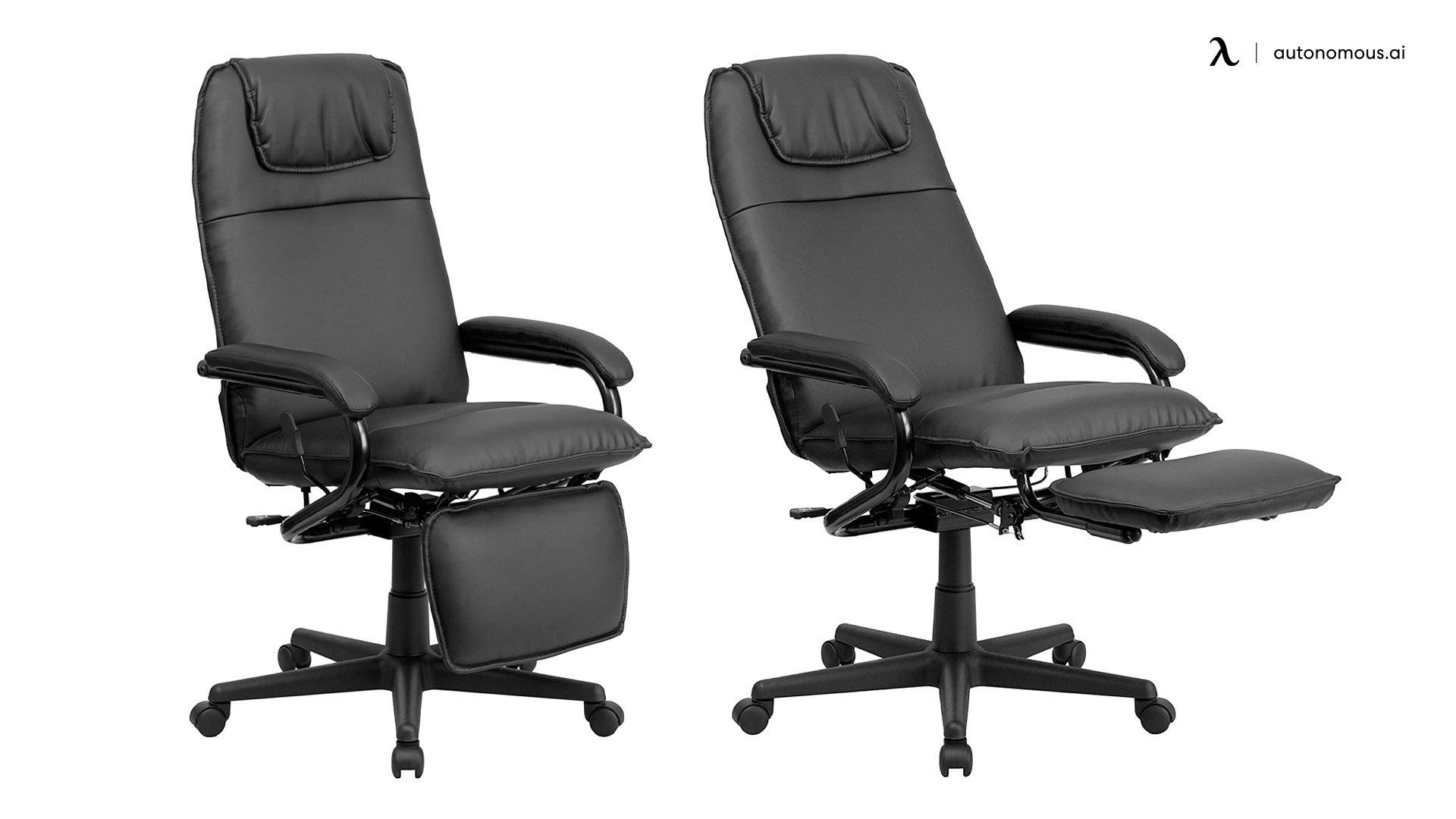 Flash Furniture Reclining Office Chair with Footrest