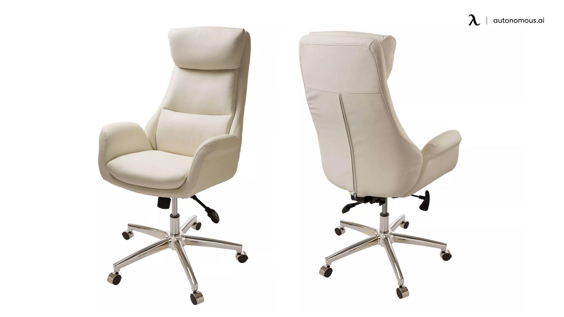 "Glitzhome 48""H Mid-Century Modern Adjustable Office Chair"