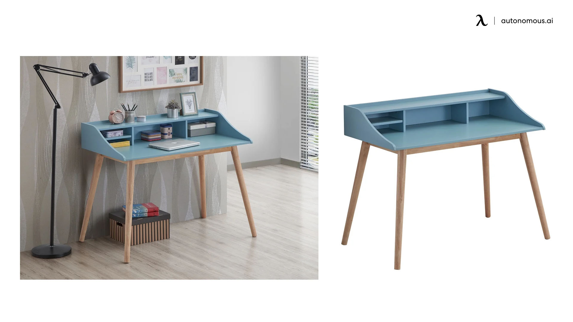 Roskilde Modern Wood Writing Desk