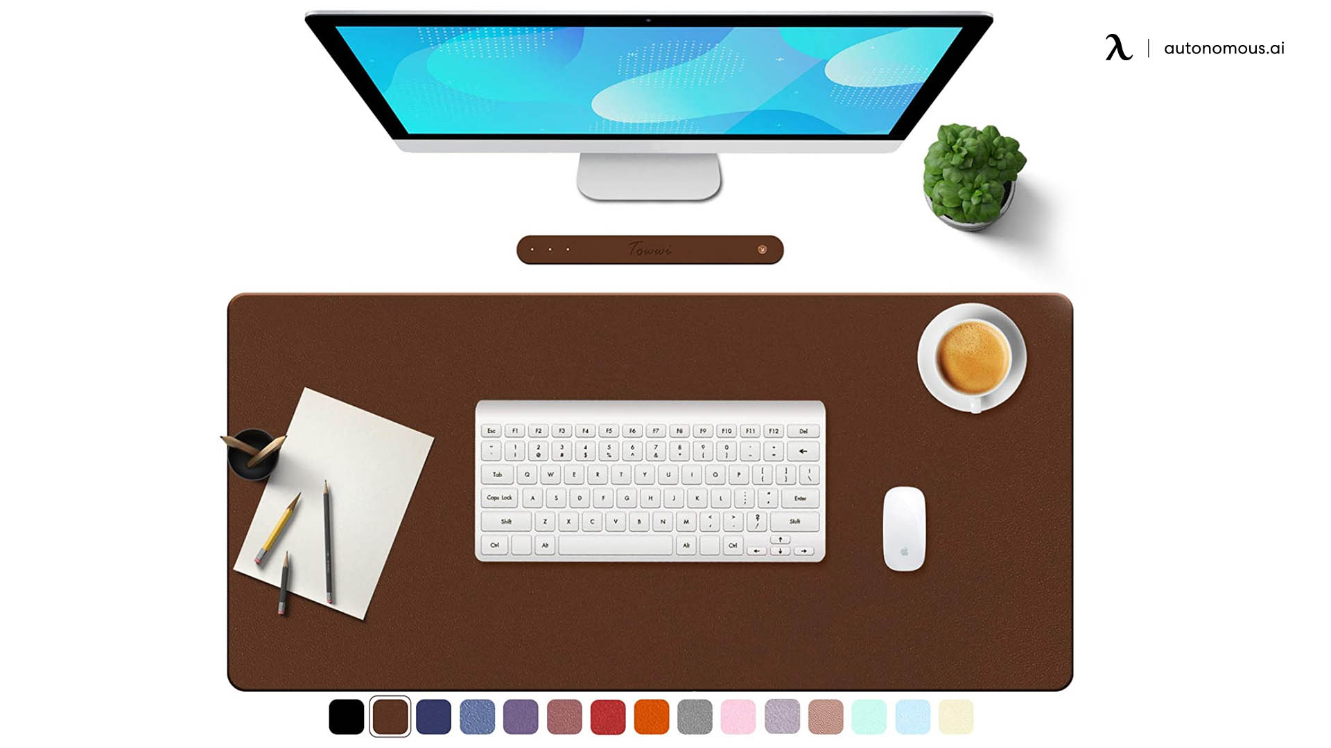 Leather Desk Pad by Towwi PU