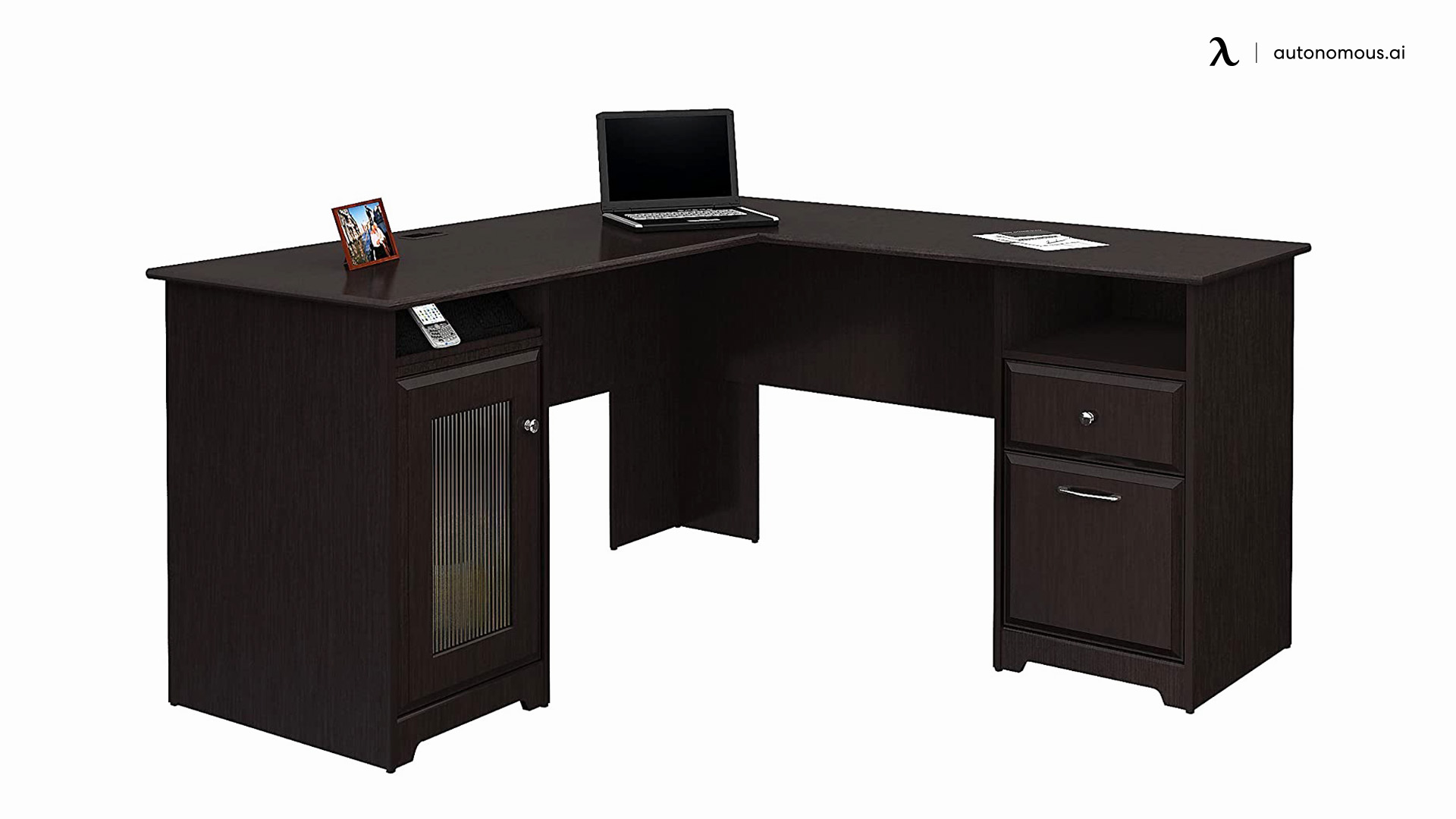 Bush Furniture Anthropology Black Corner Desk