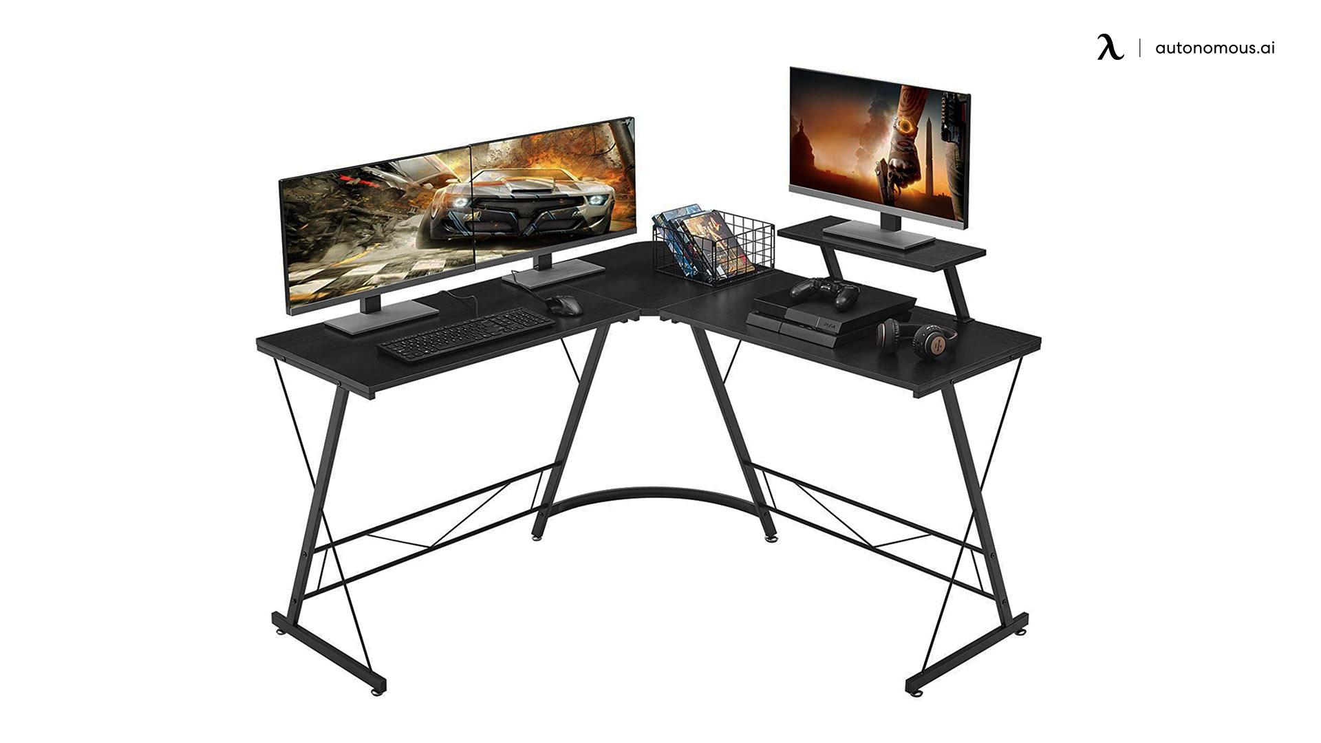 MR. IRONSTONE Black Corner Desk