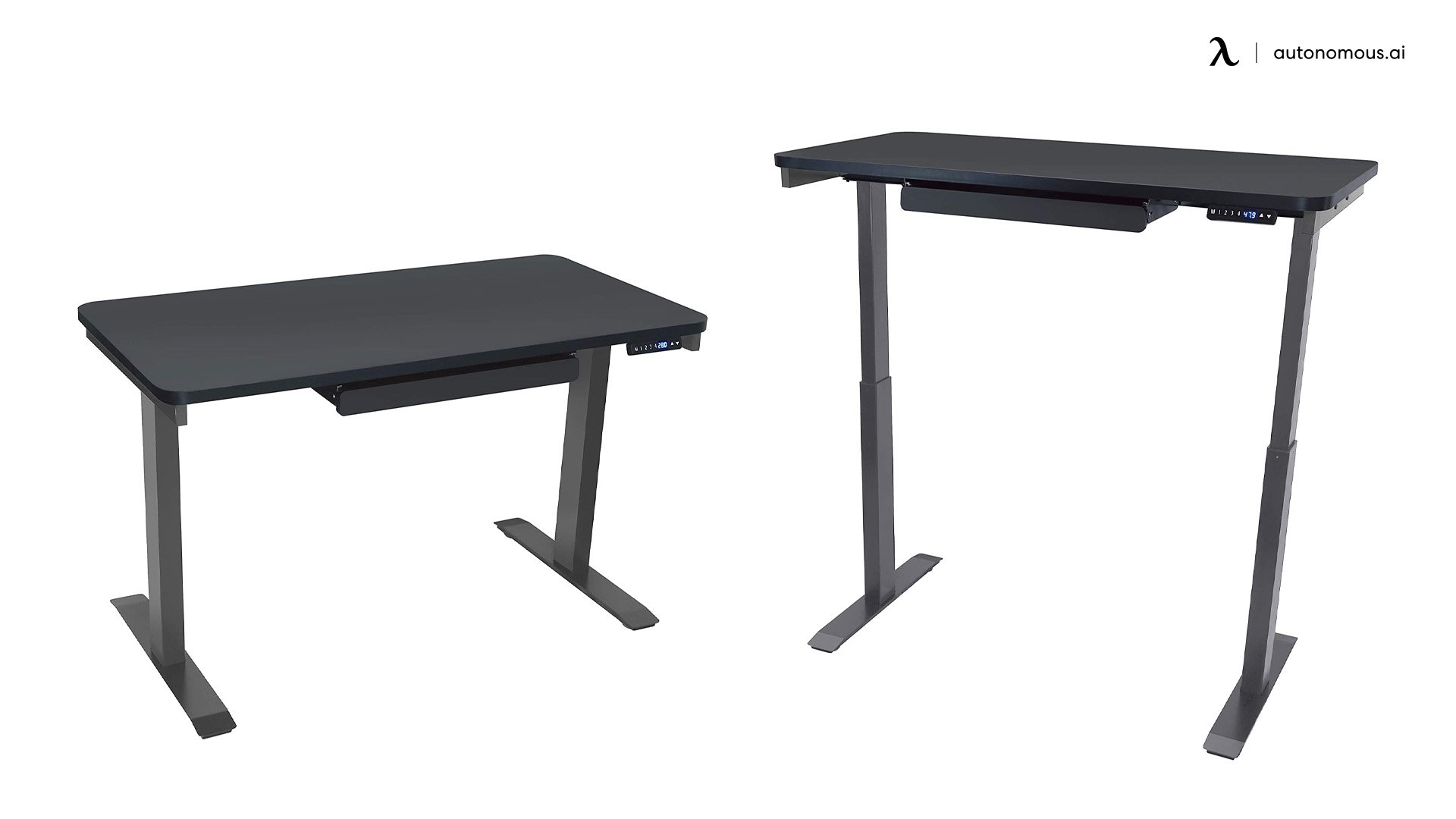 Motionwise SDG48B Home Office Series Black Electric Standing Desk
