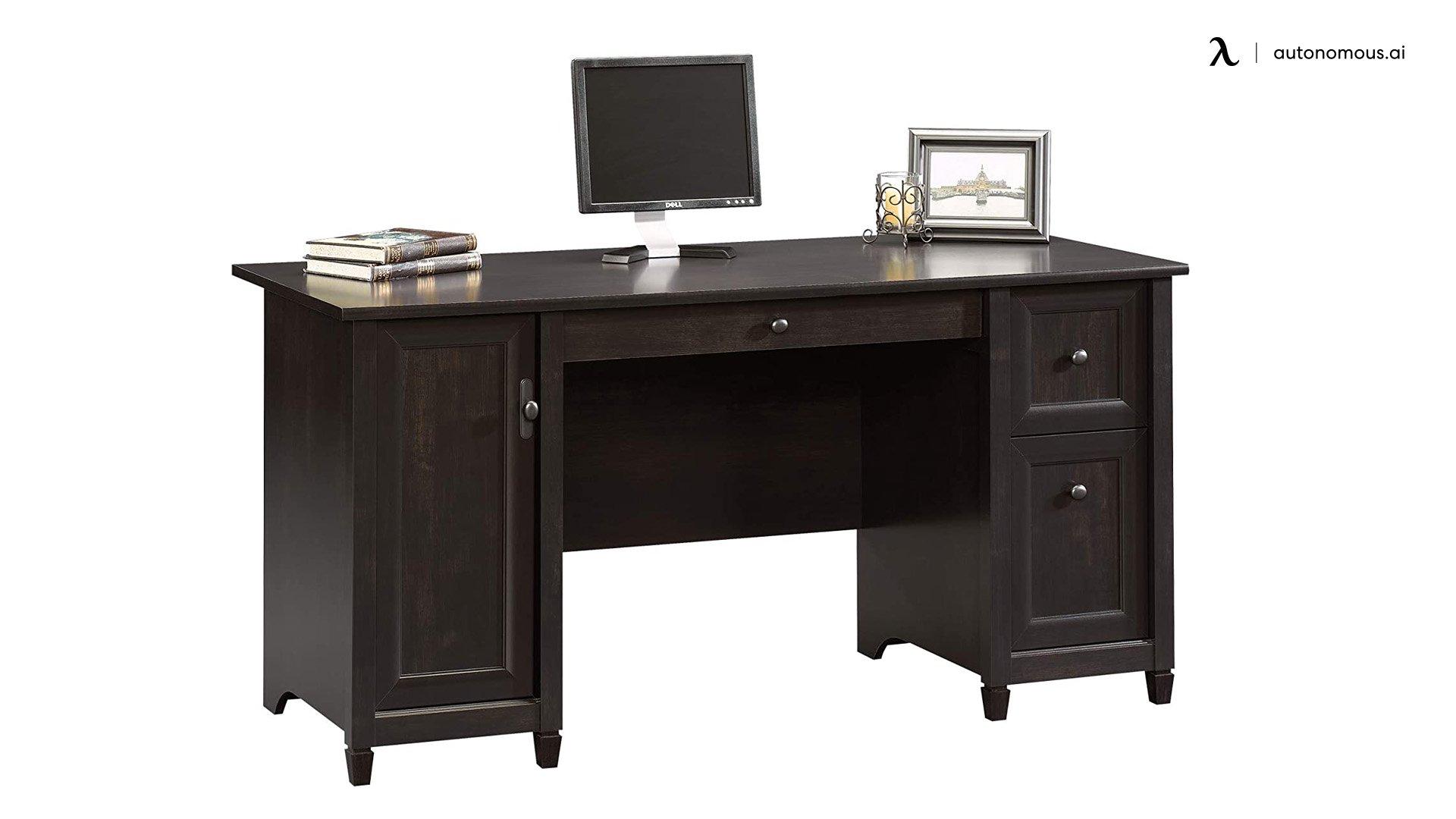 Sauder Edge Water Black Modern Writing Desk