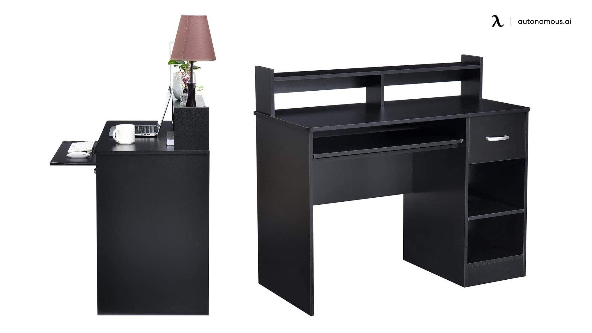 ROCKPOINT Axess Black Contemporary Desk