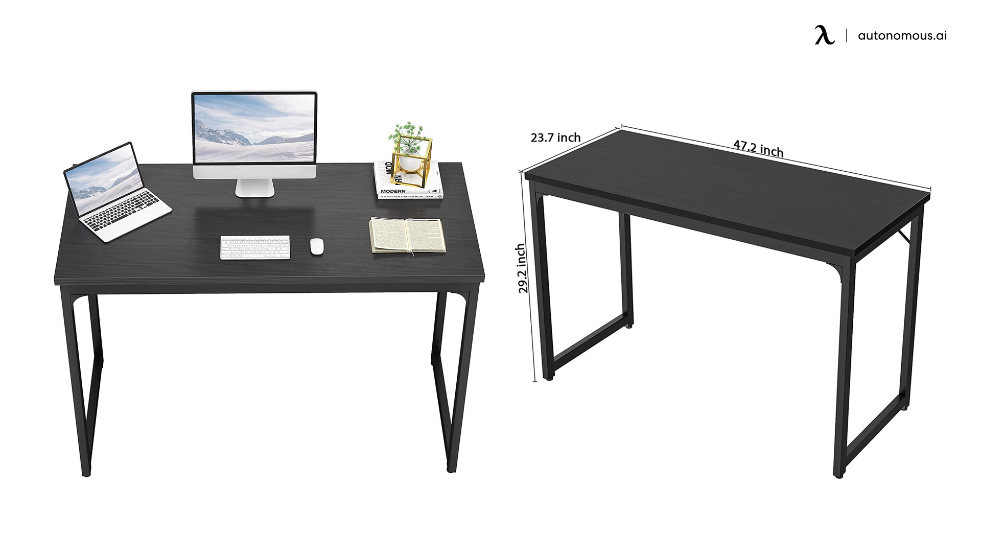 Foxemart Treste Black Computer Desk