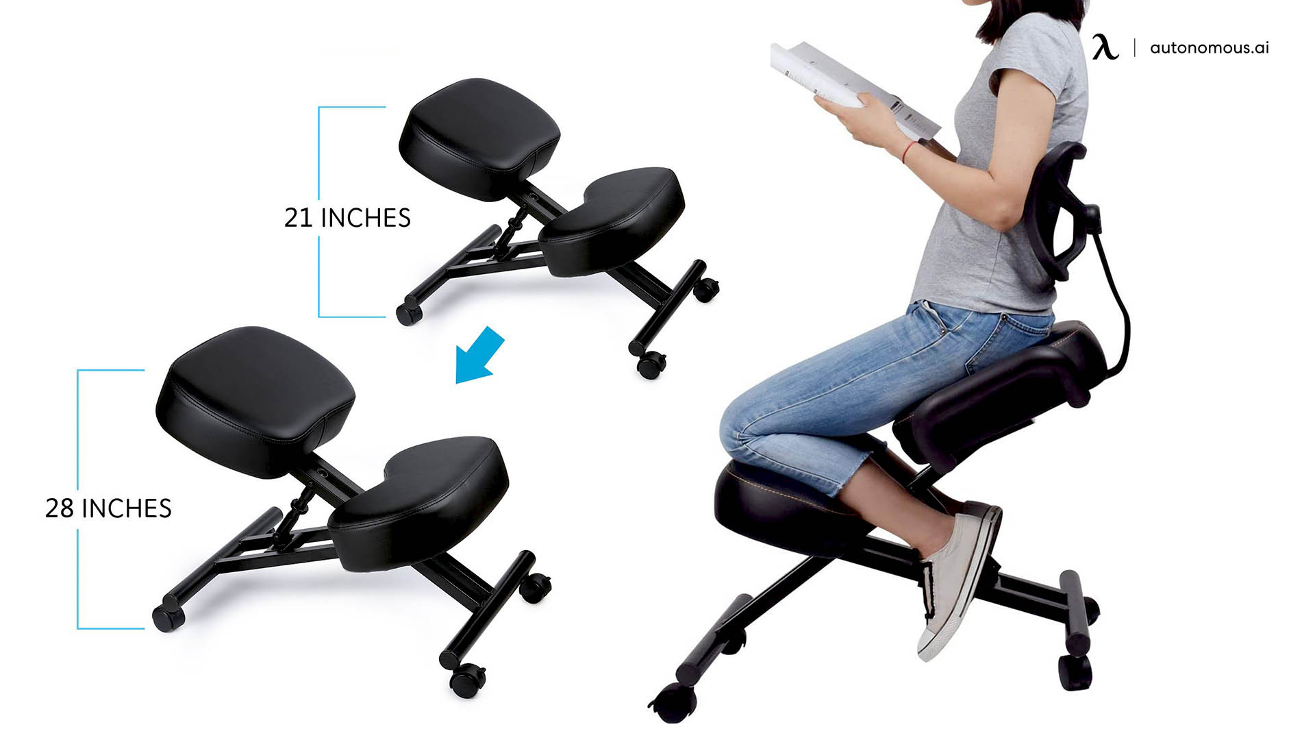 Ergonomic Kneeling Chair by Dragonn