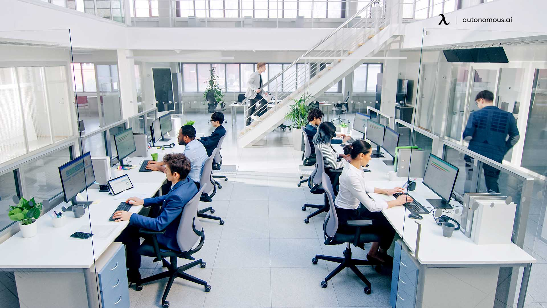 Automation hybrid workplace design will take the lead to manage log-ins, find, reserve, and use hot desks across offices