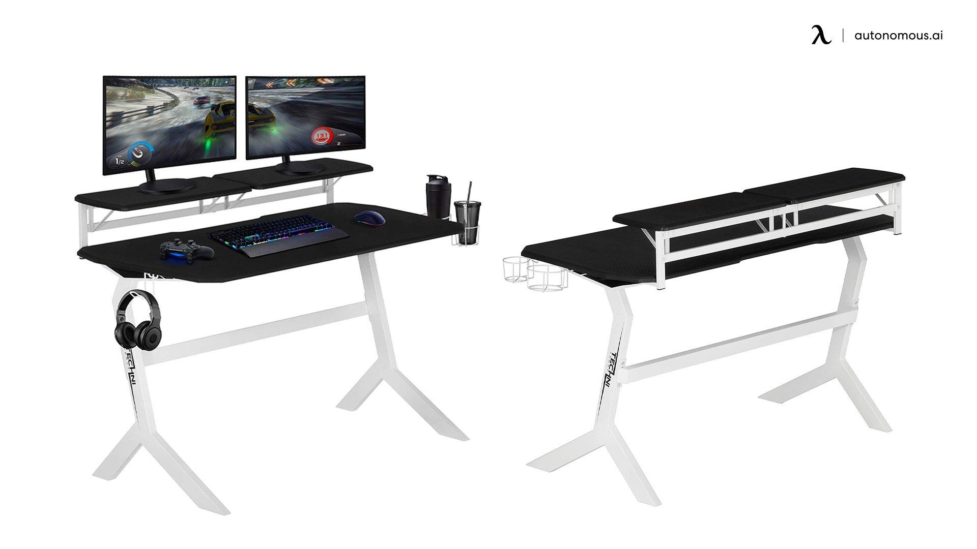 Techni Sport White Gaming Desk