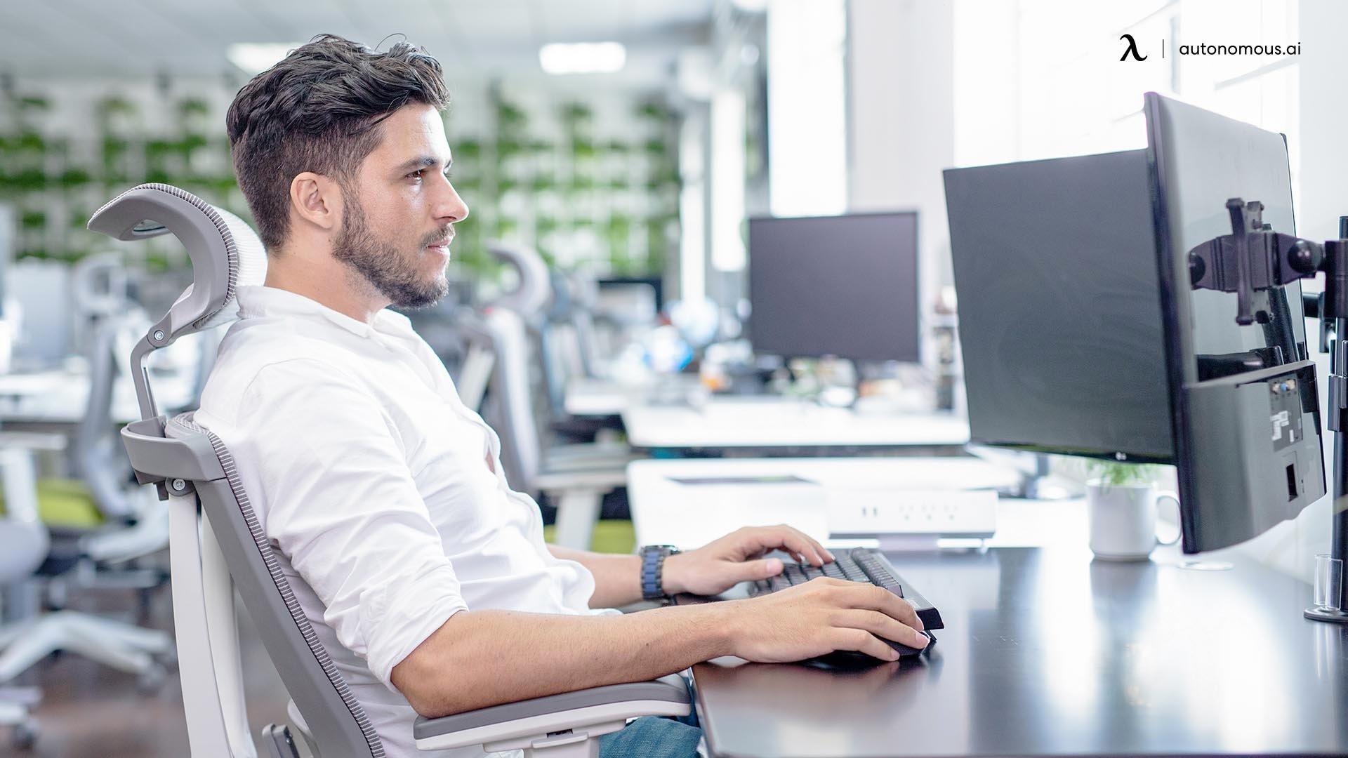 ergonomic office setup
