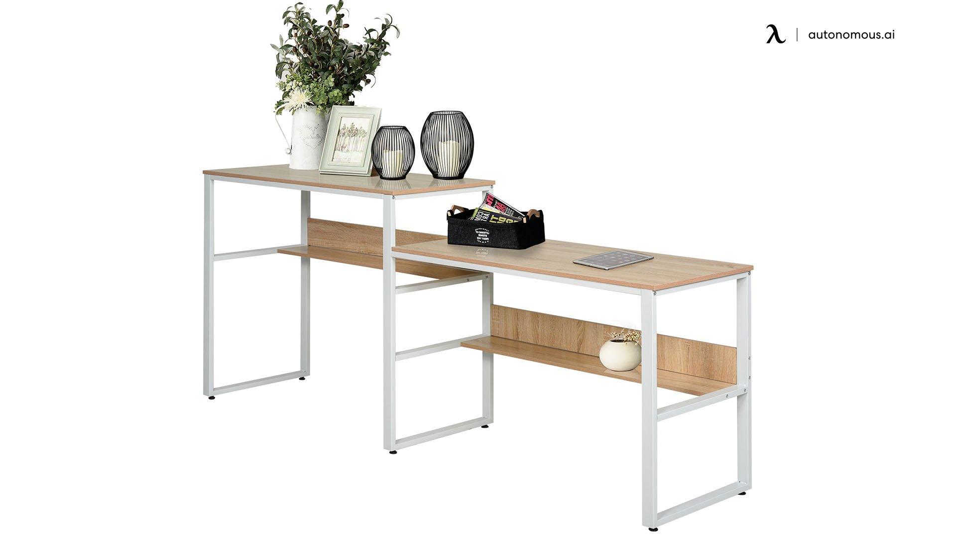 HomCom Industrial Double-Sided Desk