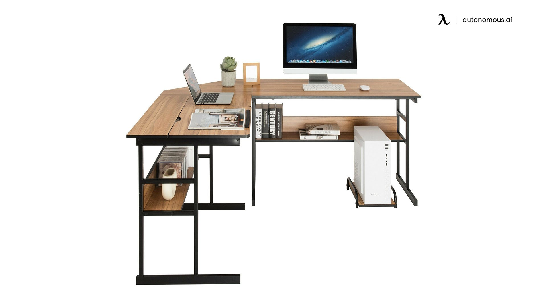 Costway Two Person Computer Desk