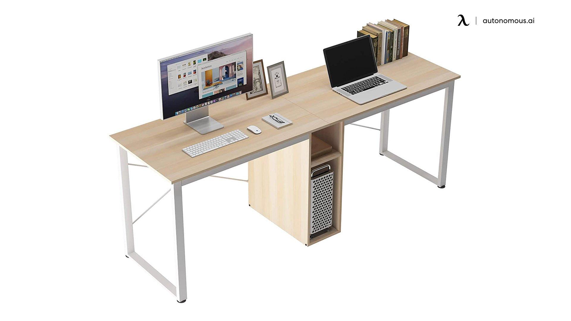 DlandHome Double Computer Storage Desk