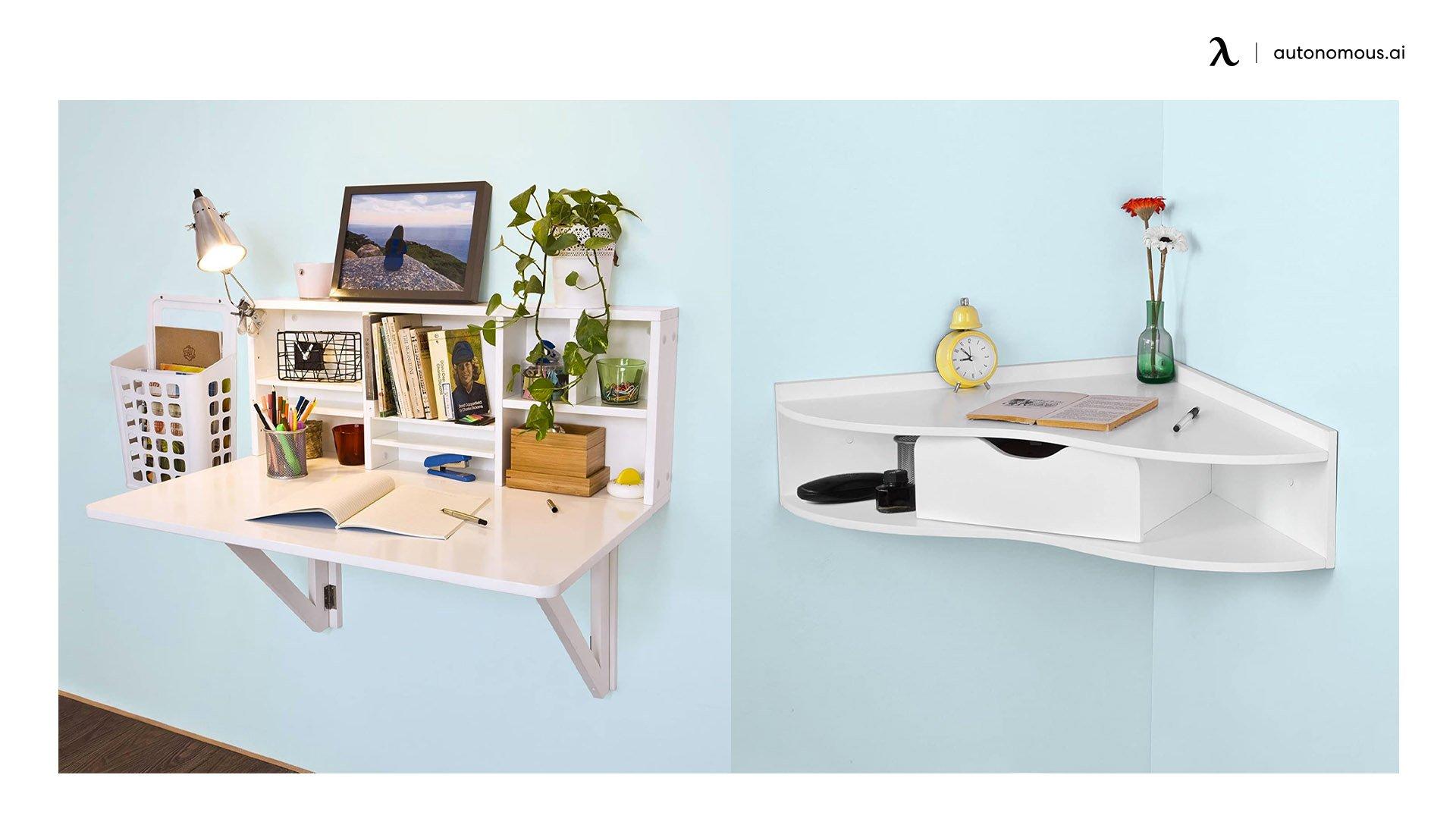 Haotian Wall-mounted Corner Desk