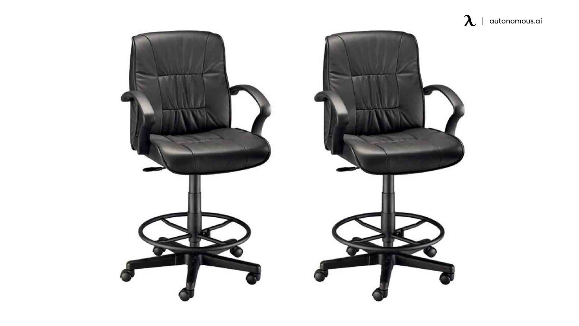 Alvin 90DH Leather Drafting Chair