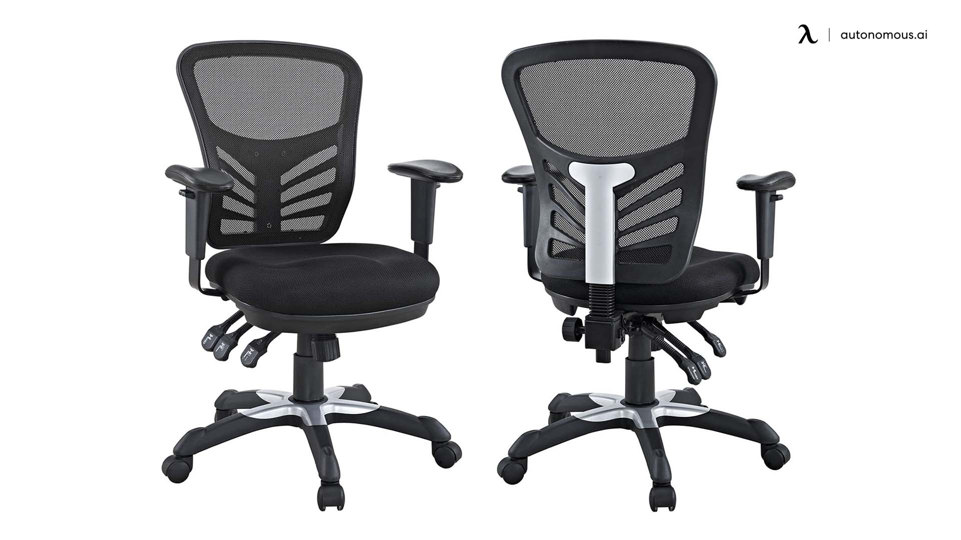 Black Modway Attainment Drafting Chair