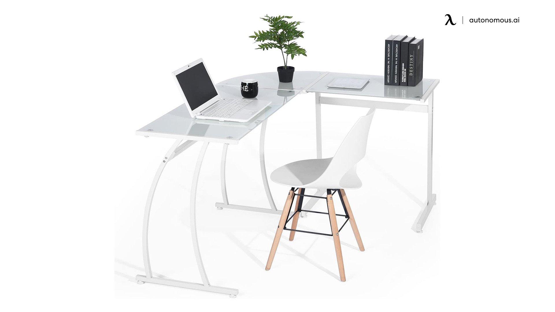 Green Forest L-shaped Desk