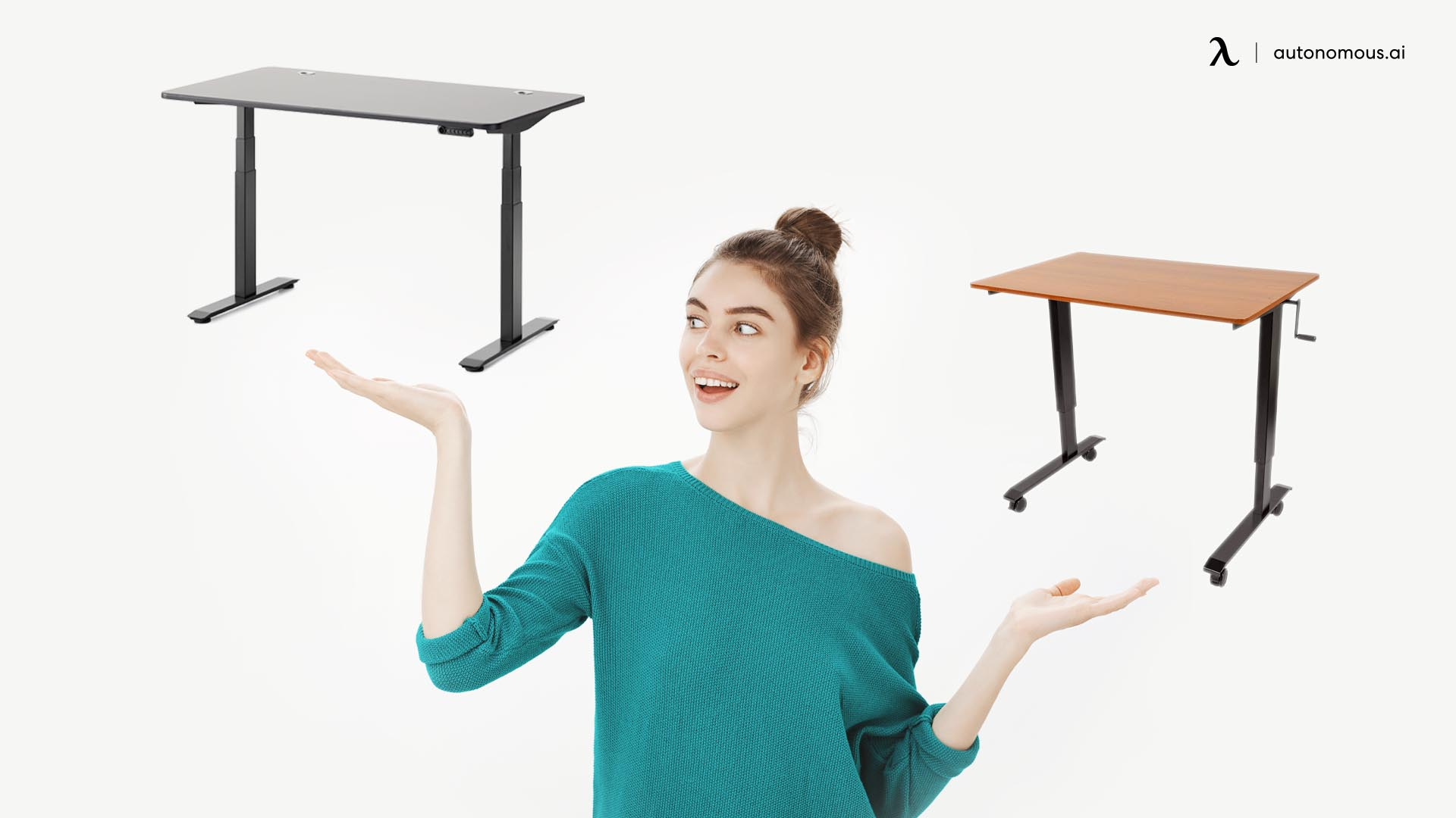 Electric or Manual Standing Desk