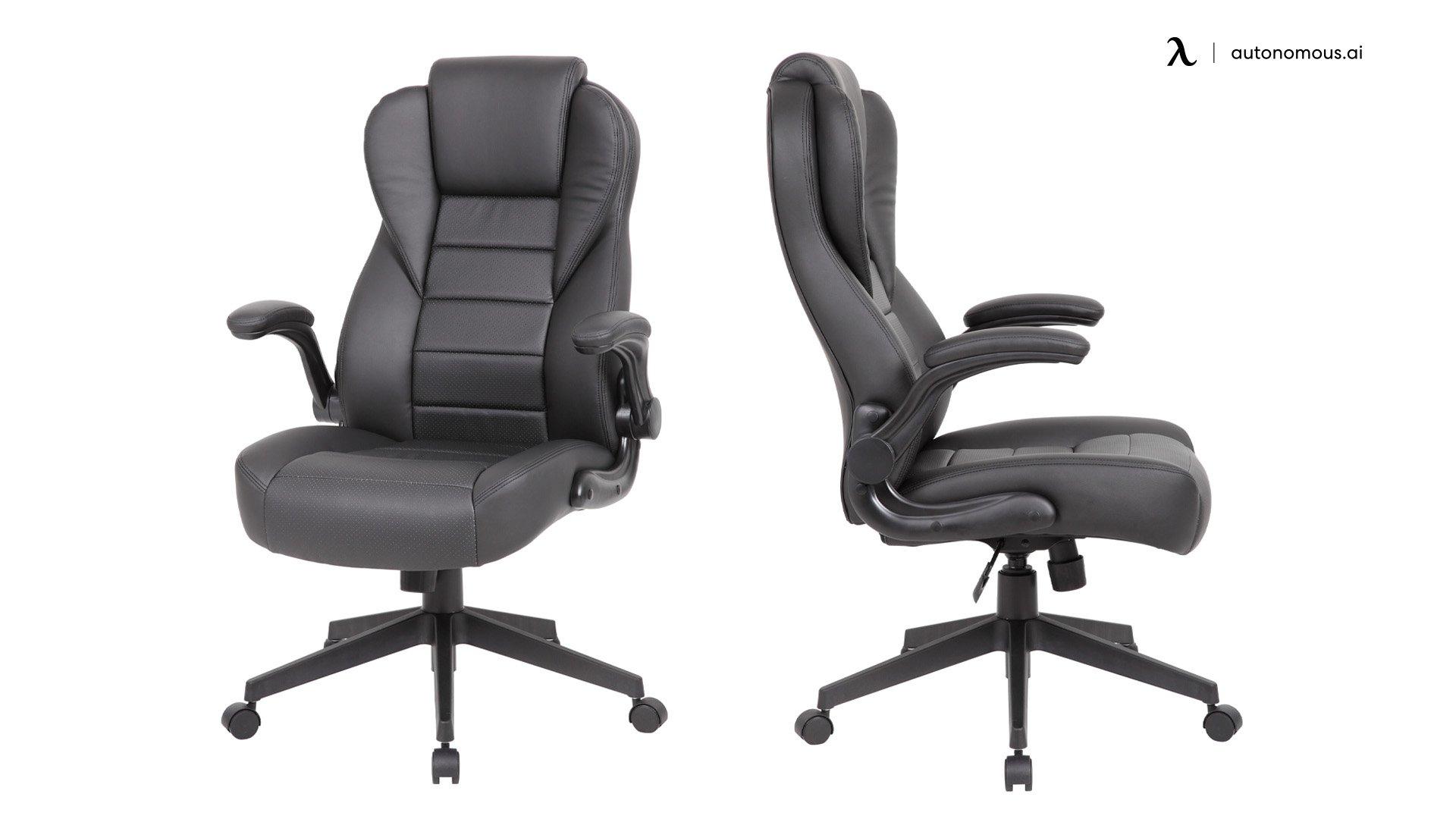 Boss Executive High Back CaressoftPlus Flip Arm Chair