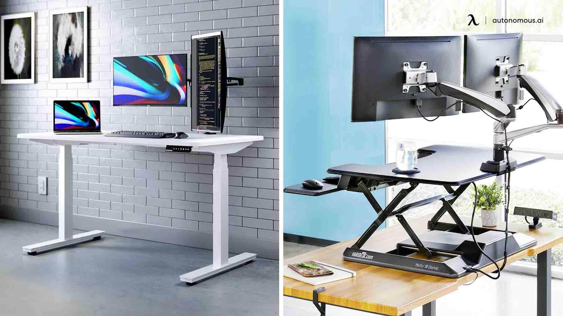 Adjustable Standing Desk vs. Desk Converter