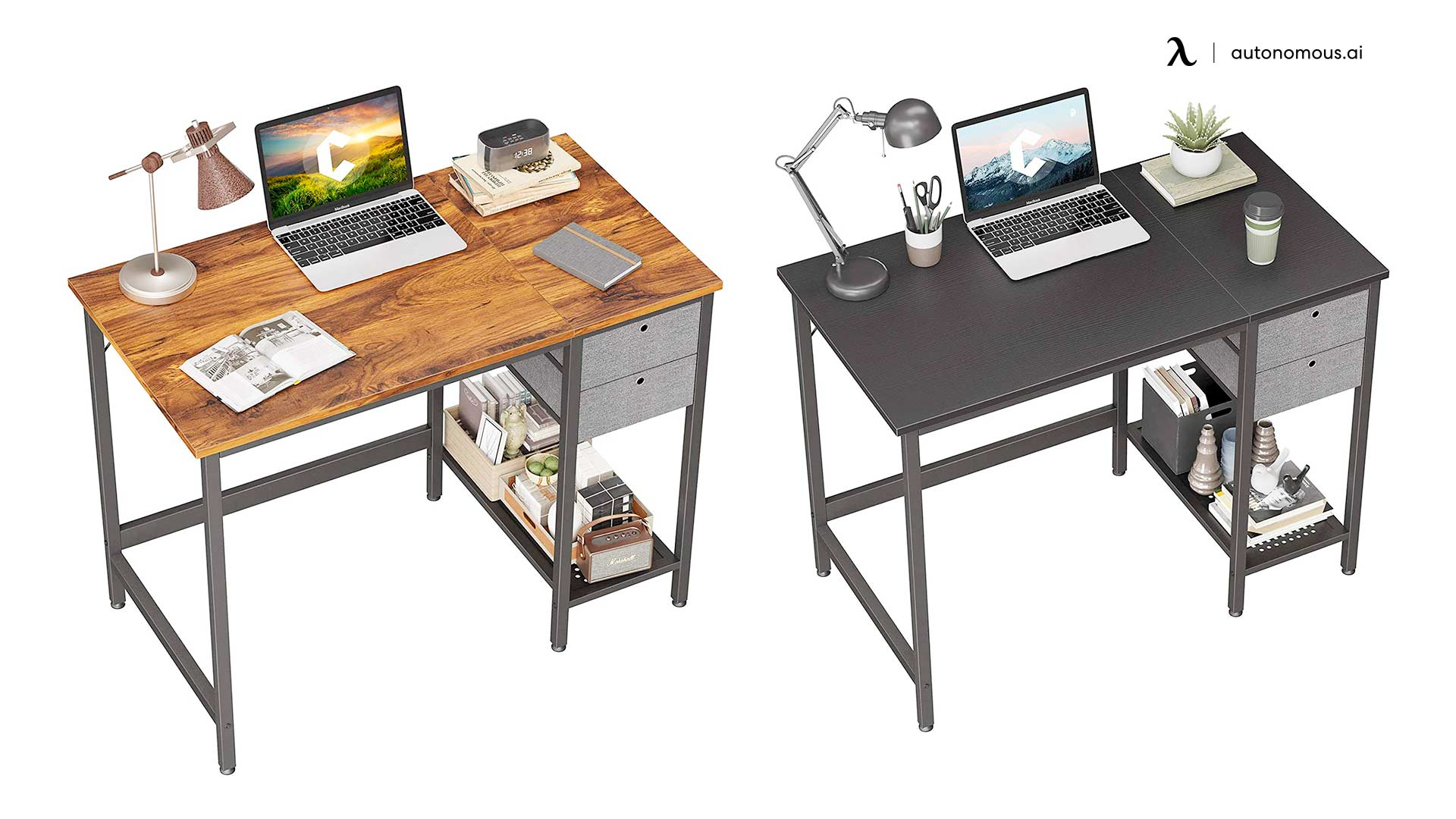 Cubiker Steel Desk with Drawers