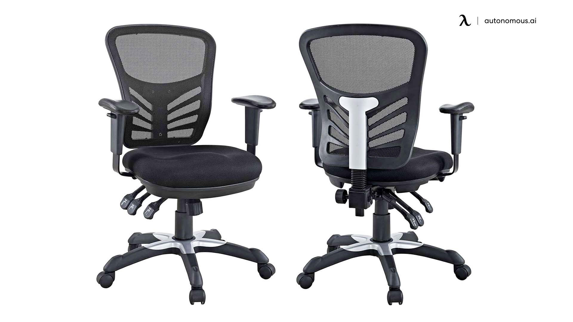 Black Mesh Office Chair by Modway Articulate