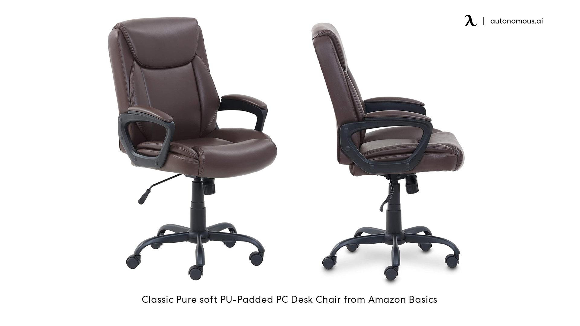 Classic Pure soft PU-Padded PC Desk Chair from Amazon Basics