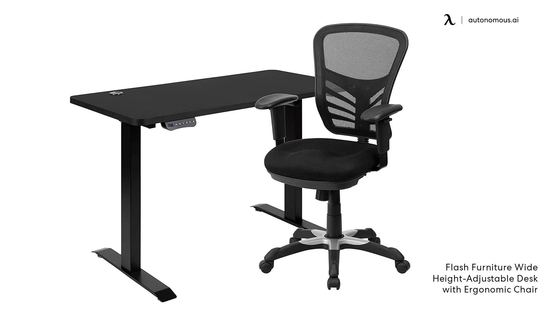Flash Furniture Wide Height-Adjustable Desk