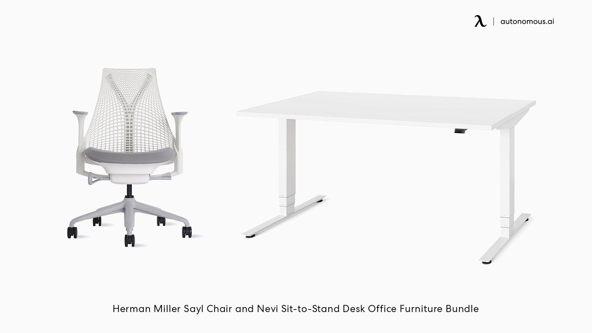 Goodwin 3-Piece Rectangular Standing Desk Office Set
