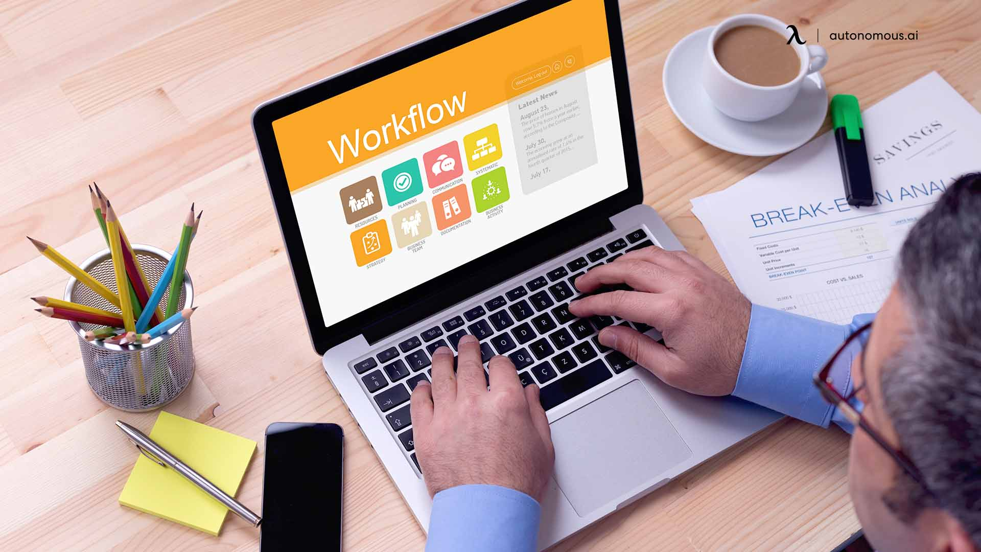 What is the digital workplace workflow?