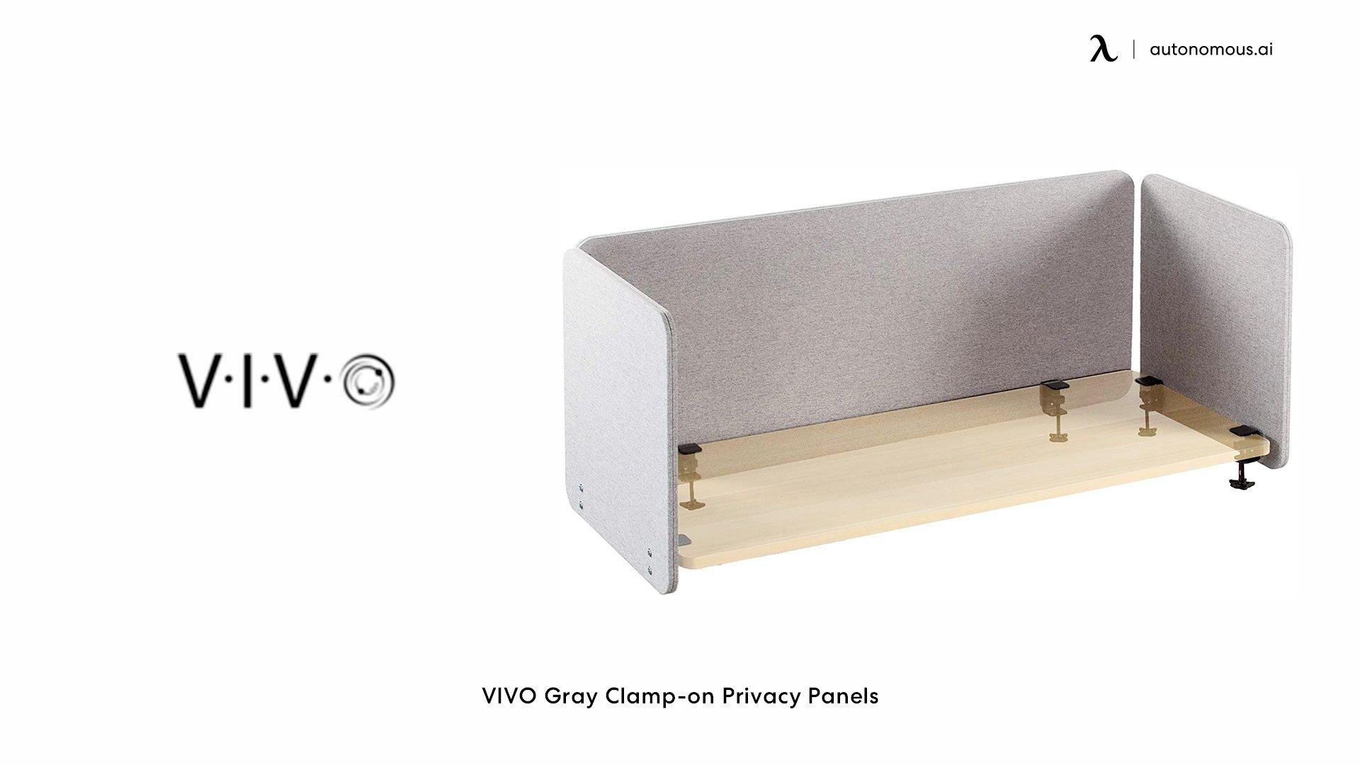 VIVO Gray Clamp-on Privacy Panels