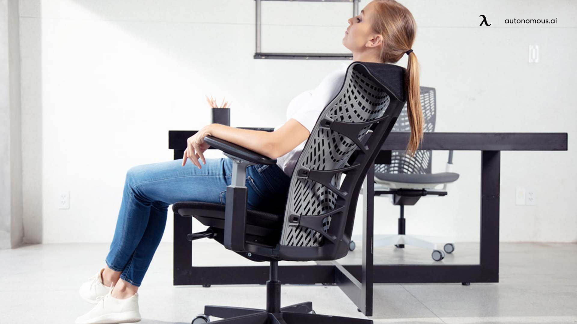 Adjusting in an Office Chair