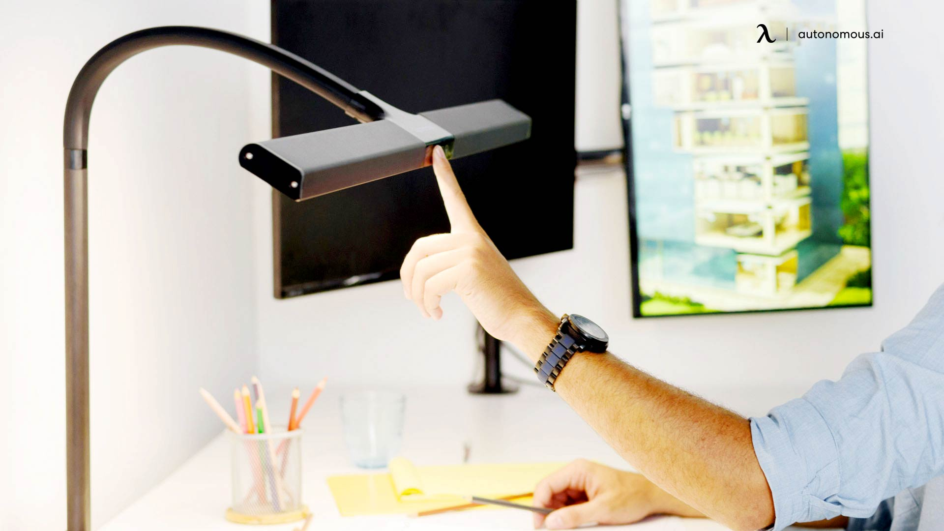 Place an LED lamp Above Your Desk