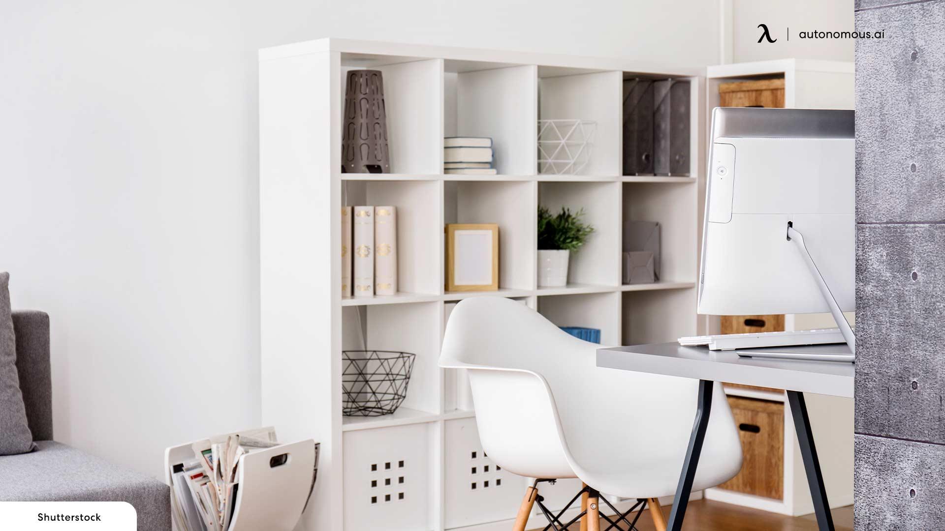 L-shaped Bookshelves