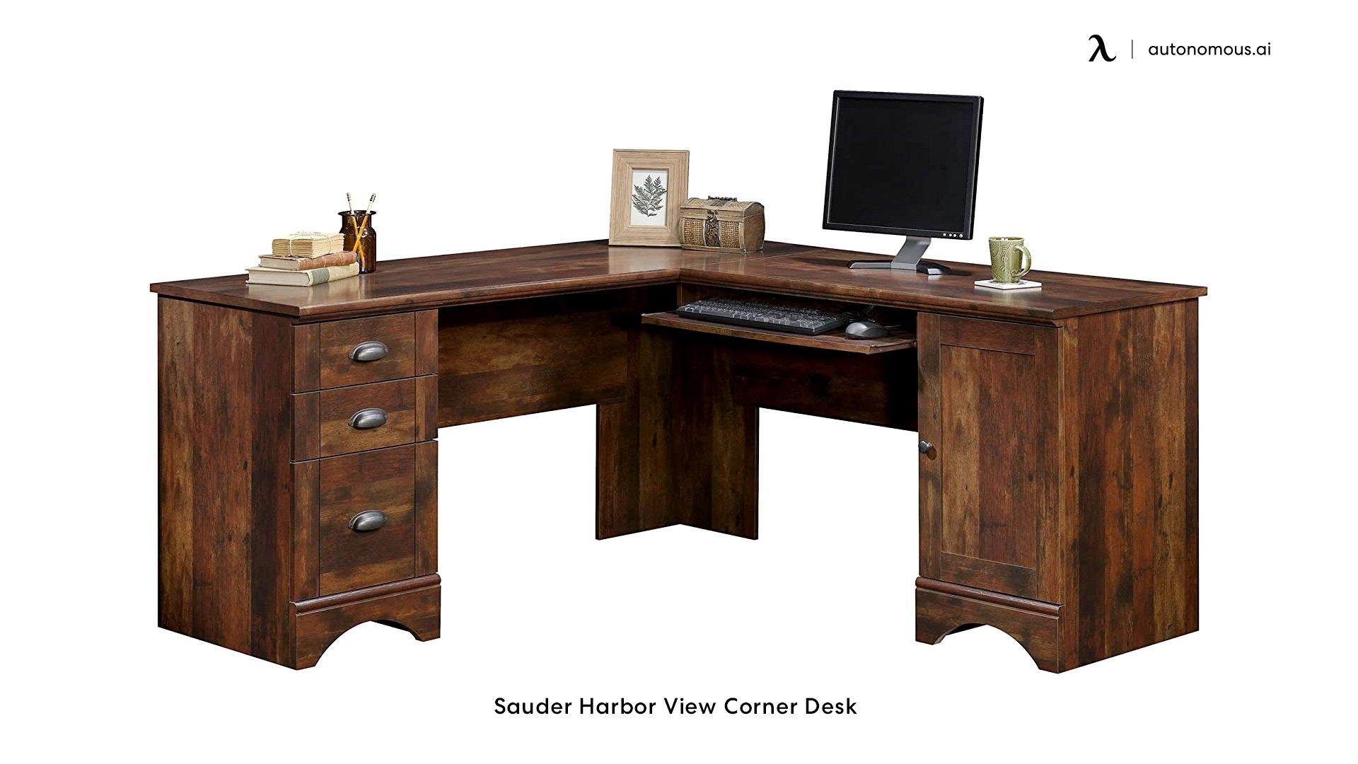 Sauder Harbor View Corner Desk